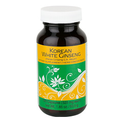 Korean White Ginseng 100 Capsules  (525 mg each capsule)
