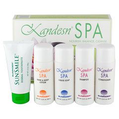 Kandesn® Spa Gift Set 1 Pack  (2 oz. /57 g to 2.3 oz./65 g each bottle/tube)